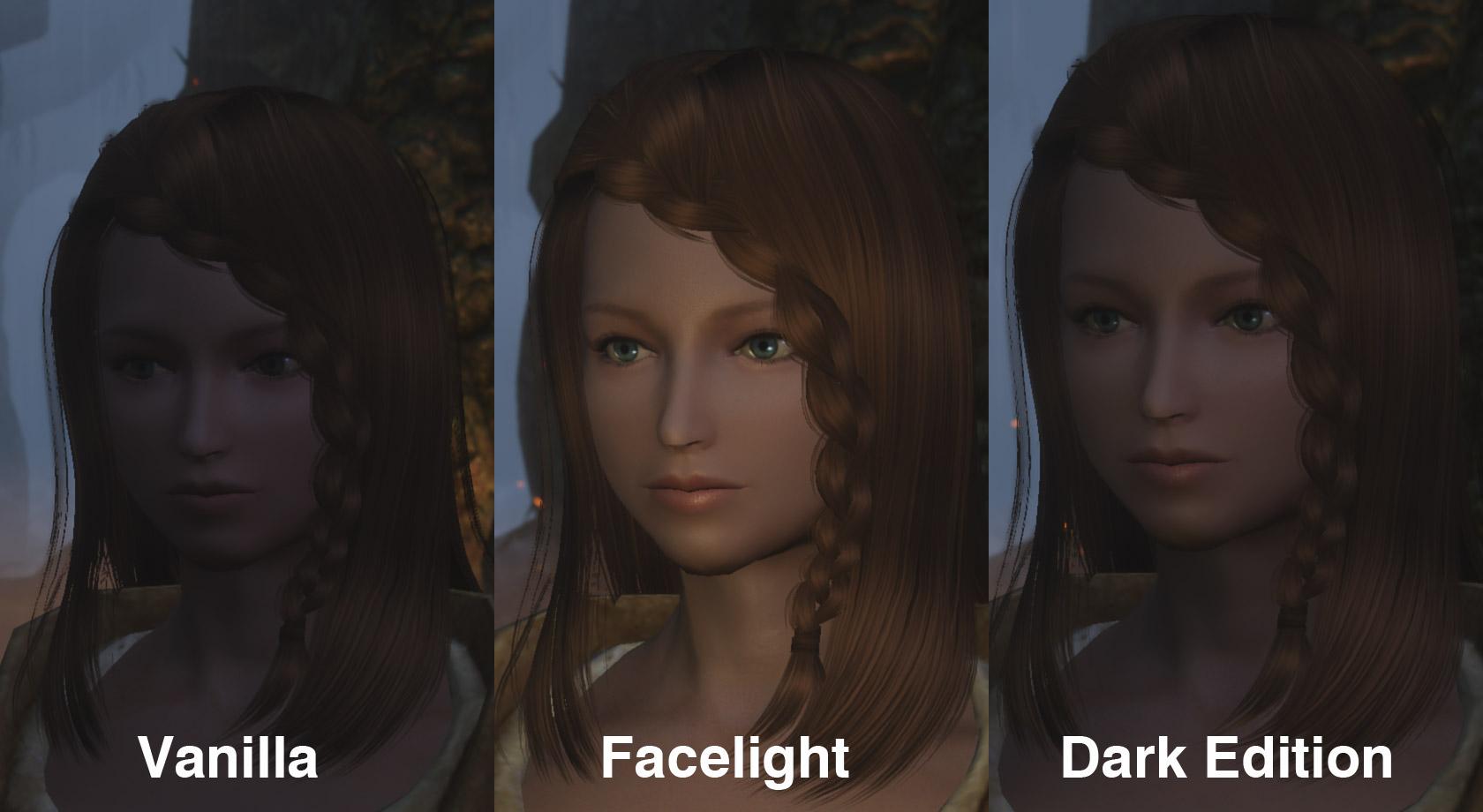 face light 日本語化対応 魔法 呪文 エンチャント skyrim mod