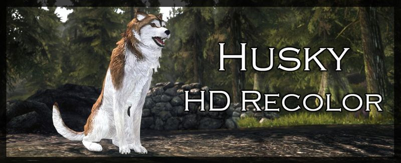 husky hd recolor bran and sceolang replacer モデル テクスチャ