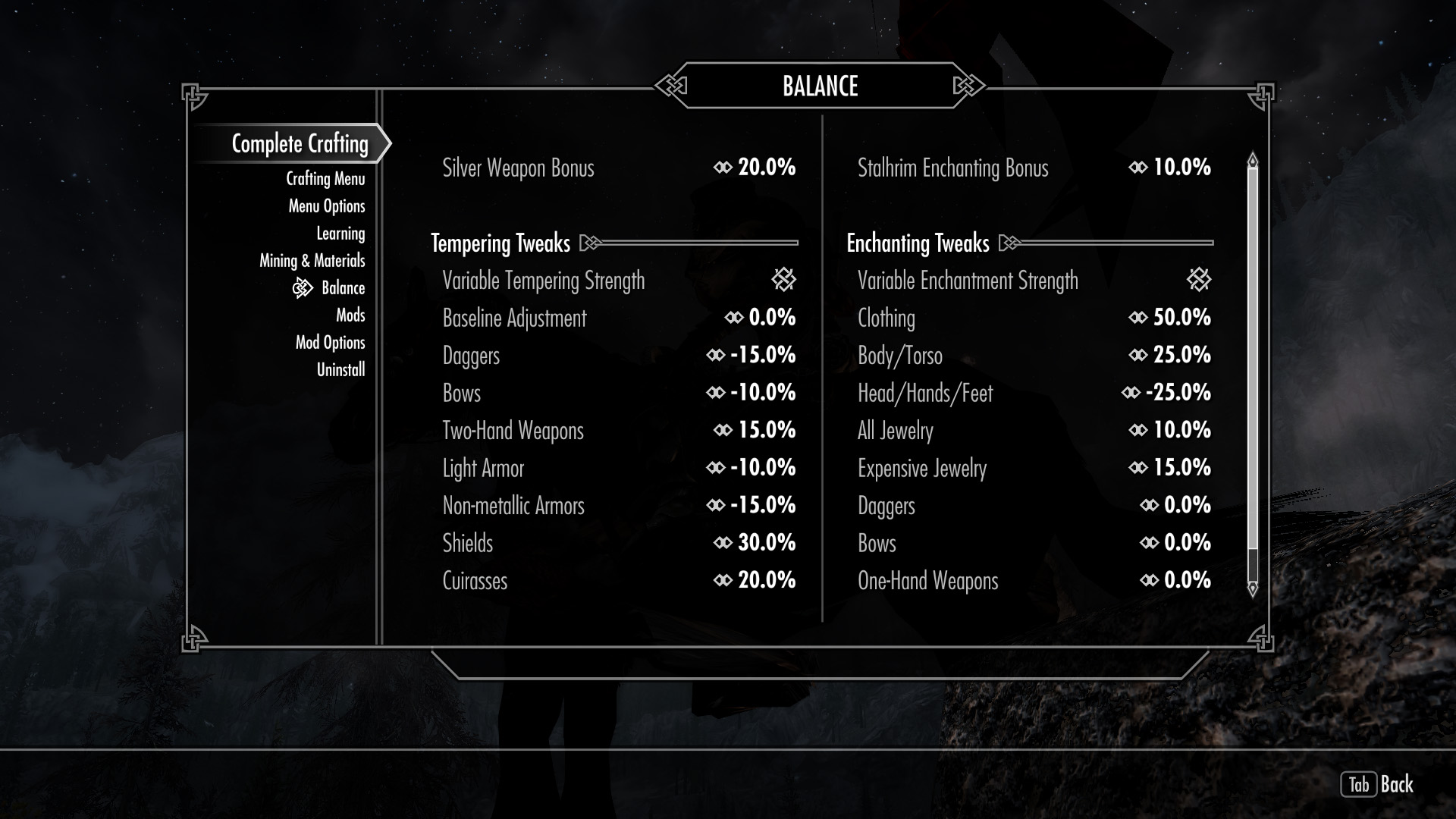 complete crafting overhaul