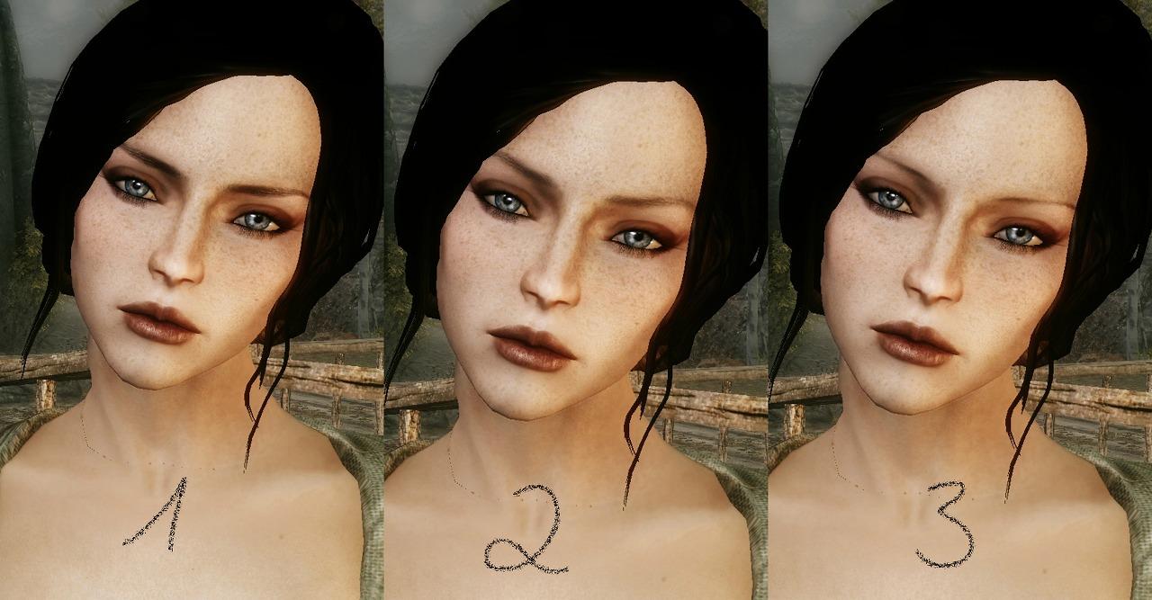 Новый макияж для скайрима