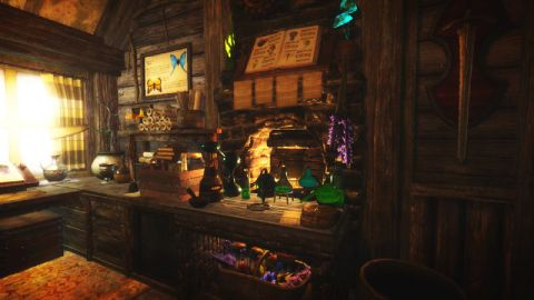 Twin chimneys cabin screenshot cell skyrim mod for Twin chimneys