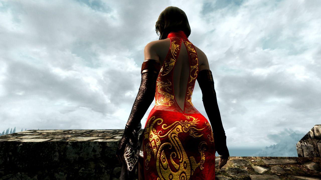 Neo Oriental Dress v1_20 CBBE UNP 鎧・アーマー - Skyrim Mod