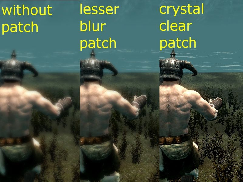 Lesser Blur Patch for Green Water Fix その他 - Skyrim Mod