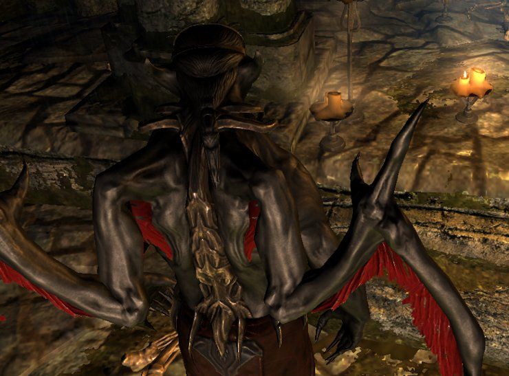 Another Vampire Lord Retexture モデルテクスチャ Skyrim Mod