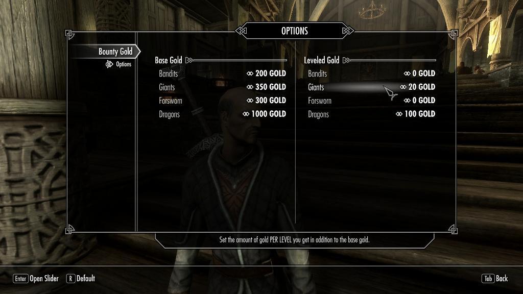 Bounty Gold 日本語化対応 ゲームシステム変更 - Skyrim Mod