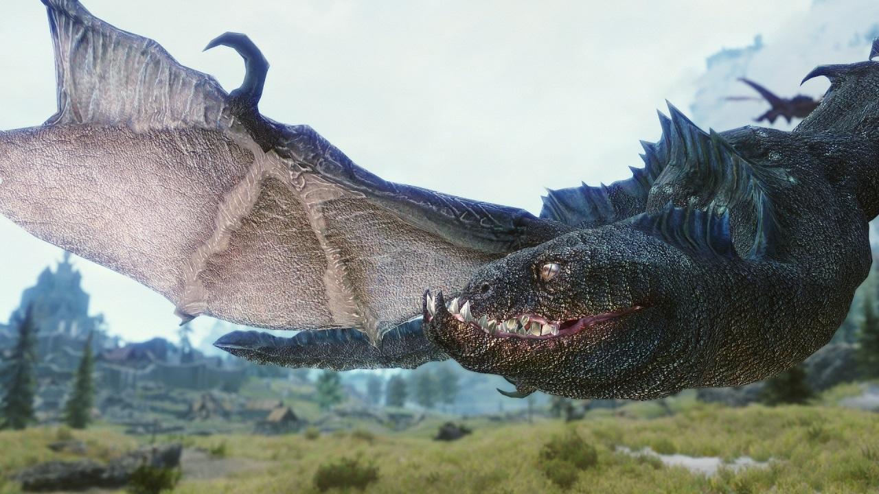 Skyrim Realistic Texture Overhaul dragons 4-8K モデル