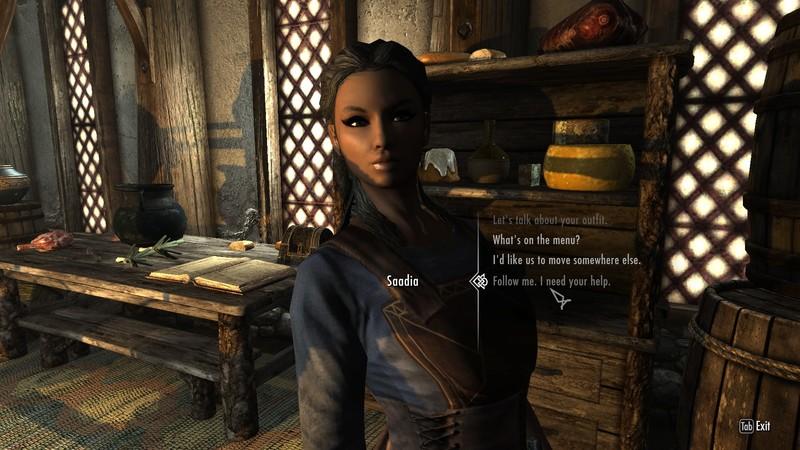 Saadia As A Companion at Skyrim Nexus - mods and community
