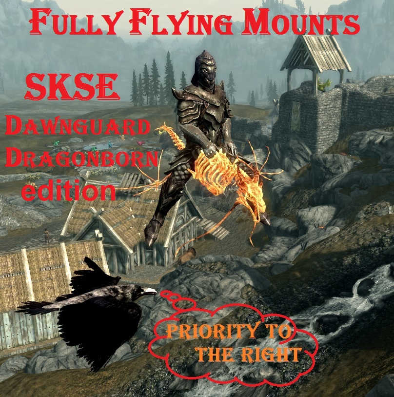 skyrim flying mount mod