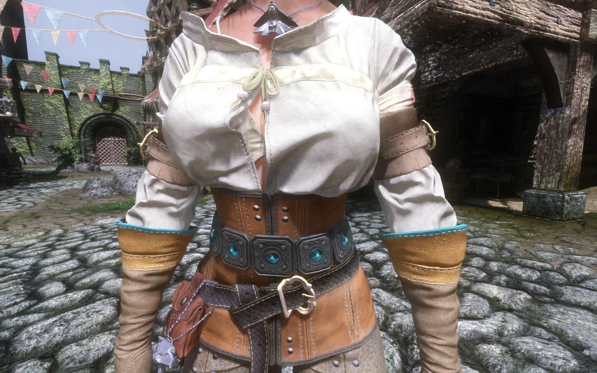 Ciri (Witcher 3) Armor HD Retexture モデル・テクスチャ