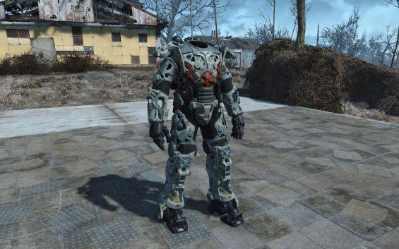 Power Armor Frame GunMetal and Chrometic Retexture パワー