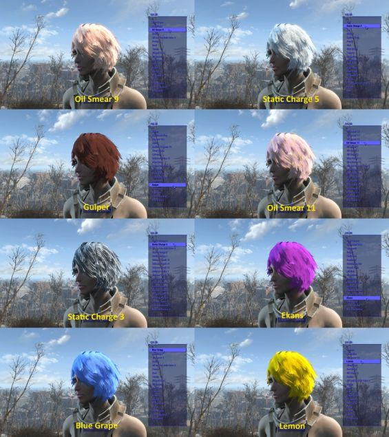 512 Standalone Hair Colors (1 ESP) 日本語化対応 髪・顔・体