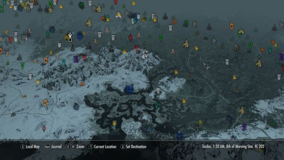 EzEs -Colored Map Markers- インターフェース - Skyrim Mod ...