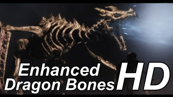 enhanced hd dragon bones モデル テクスチャ skyrim mod