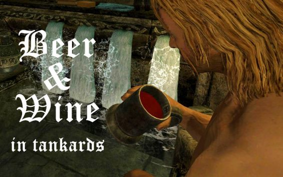 wine and beer in tankards モーション skyrim mod データベース mod