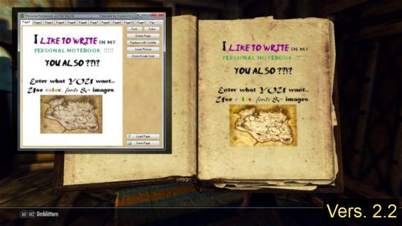 personal notebook journal mod pnfs インターフェース skyrim mod