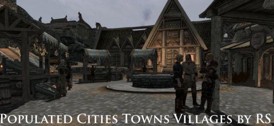 populated cities towns villages se edition 日本語化対応 npc skyrim